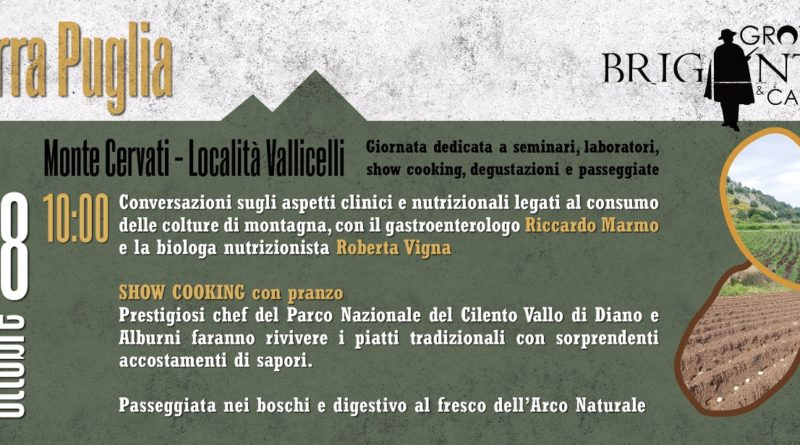 Terra Puglia, 28 ottobre. Vivere il Cervati tra Natura e gusto