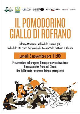 """A Vallo della Lucania si parlerà del recupero e della valorizzazione del """"pomodorino giallo di Rofrano"""""""