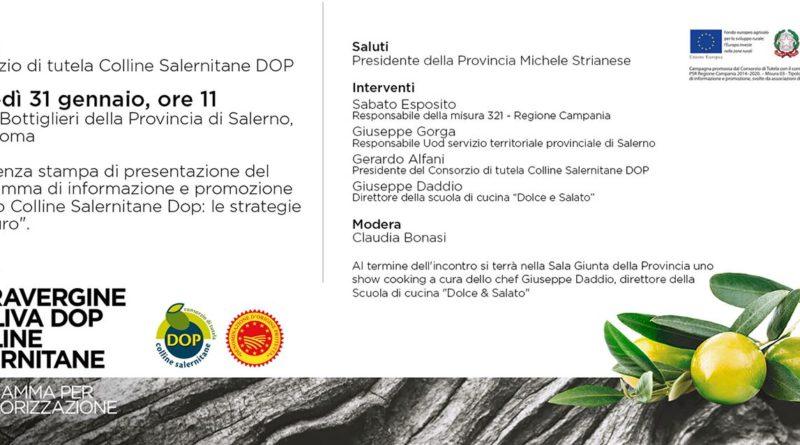 Oggi alla Provincia si parla dell'Olio Colline Salernitane DOP