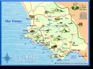 Cilento Cartina Geografica.Cartina Mappa Cilento Turistica Parco Nazionale Cilento 2013 Trekking Tv