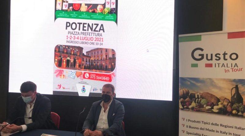 """""""Gusto Italia in tour"""" Si riparte da Potenza dal 1° al 4 luglio in Piazza Prefettura"""